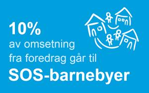 10% av omsetning går til SOS-barnebyer